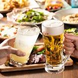 飲み放題付コースは女子会など各種ご宴会におすすめ。