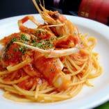 海老のトマトクリームスパゲッティー