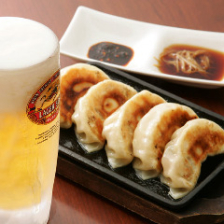 爆冷生ビール&爆汁焼餃子