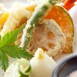 旬魚旬菜の天ぷら