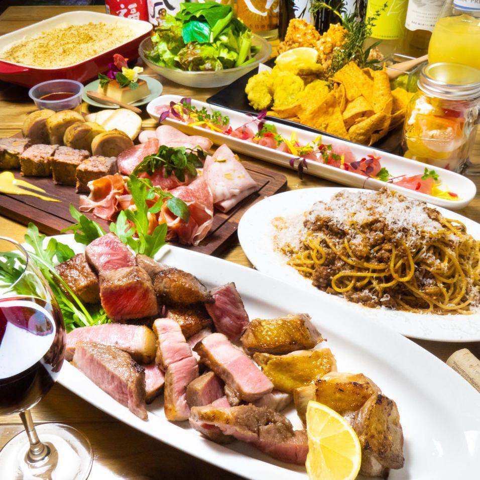 熊本産の食材を存分に堪能できる「熊本厳選お肉堪能コース」