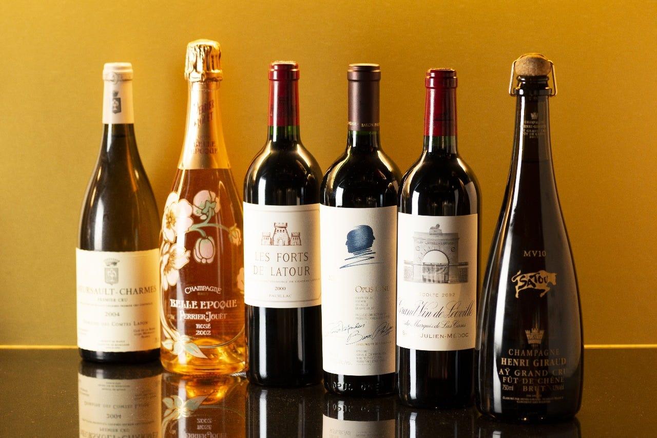 下記メニューにはない貴重なワインも取り揃えております。