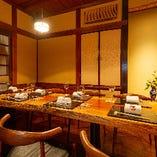 日本風雅を再現した完全個室でぞんぶんに料理をお楽しみ下さい。