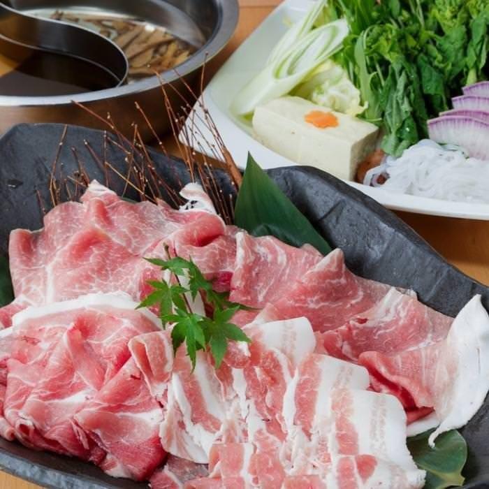2,480円で豚ロースと旬の鍋野菜が食べ放題!