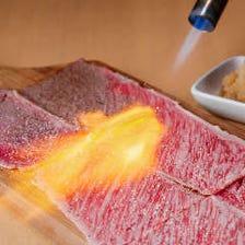 黒毛和牛 牛ロース炙りしゃぶ(ポン酢orハニーチーズ)