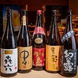 プレミアム飲み放題では人気の日本酒も飲み放題♪