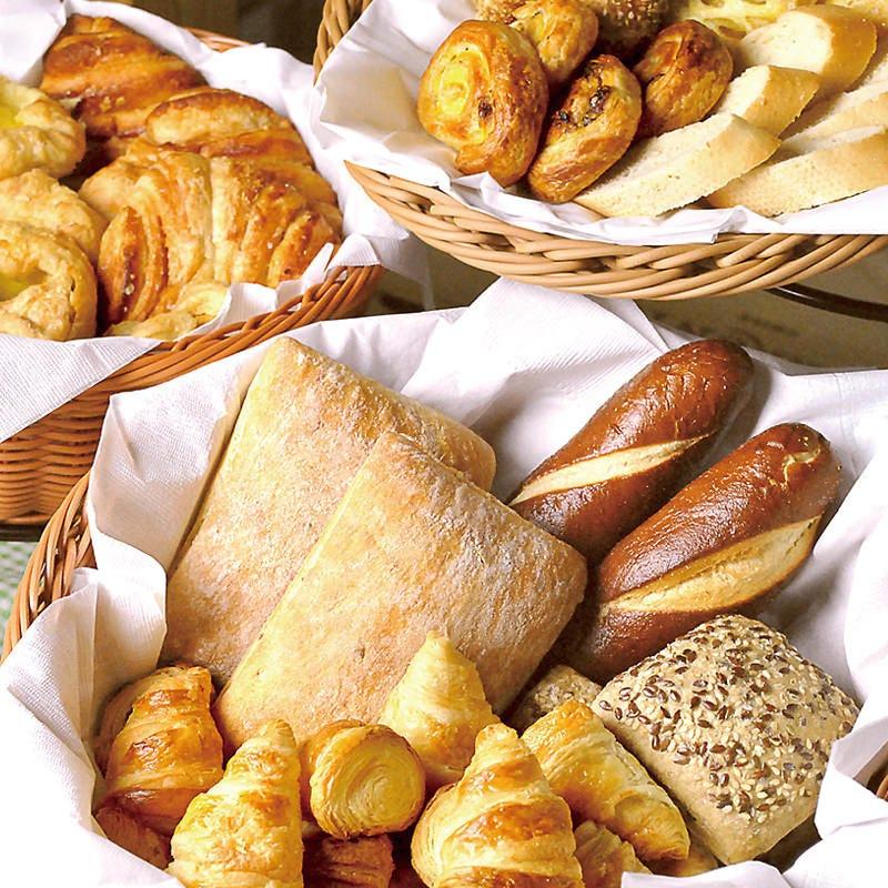 【ランチビュッフェ】ヨーロッパ直輸入のパンを約10種類ご用意