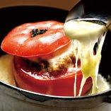 丸ごとトマトのオーブン焼き!とろとろのチーズと相性が抜群!