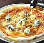 4種チーズを使用した「クワトロフォルマッジ」【【海外】】