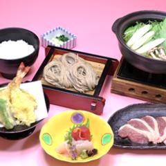 お造り天ぷら鴨鍋膳