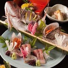 長崎県上五島直送の天然鮮魚を使用