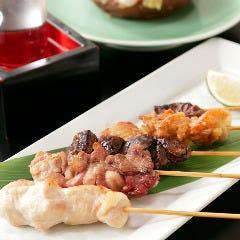 丹波高坂鶏の5種串焼