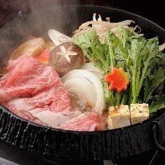 すきやきコース 個別鍋のご準備も致します。