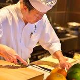 厳選した食材を使い料理長が生み出す四季折々の逸品たち