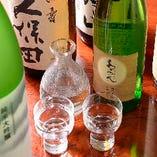蔵元から選りすぐった日本酒。お好みの一杯をじっくりと