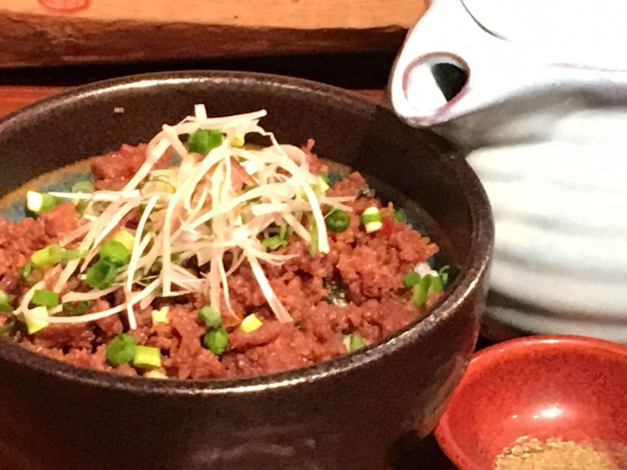 牛たん そぼろ飯 ~お茶漬け用テールスープ付~