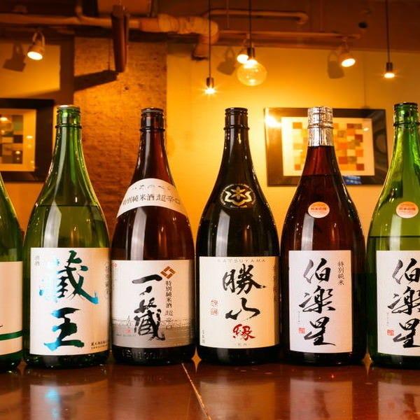 宮城をはじめとした東北の地酒を取り揃えています