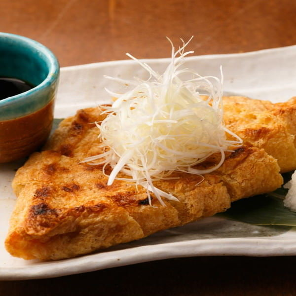 仙台で有名な定義山の三角あぶら揚げはサクサク