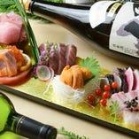 市場直送鮮魚を存分に味わえる「うよようじん盛り」が人気!