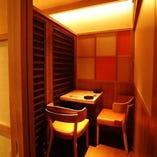 2名~6名様まで使える落ち着いた雰囲気の完全個室席をご用意。