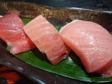 マグロの三種盛り寿司