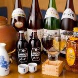 ビール、焼酎、ワイン、日本酒など幅広くご用意しております