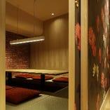 大人気の個室。 6~15名様まで対応できます。