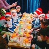 【クリスマス会】幼稚園のお母さんからの要望でクリスマス会を開催しました!お子様プレート&ソフトドリンク飲み放題1,500円! こちらは特別コースになりますので、スタッフまで音合わせください。06-6226-7108 インスタでも店舗情報発信してます♪ →@nikubaru_untitled
