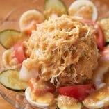 【箸休めにぴったり】 大国林道オリジナルサラダを召し上がれ