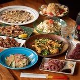 【沖縄料理がずらり】 沖縄の郷土料理をたっぷりと楽しめます