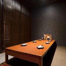 充実の個室。誰とでも楽しめる!
