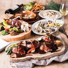 牛ヘレ肉のロッシーニ&赤穂産の牡蠣尽くし