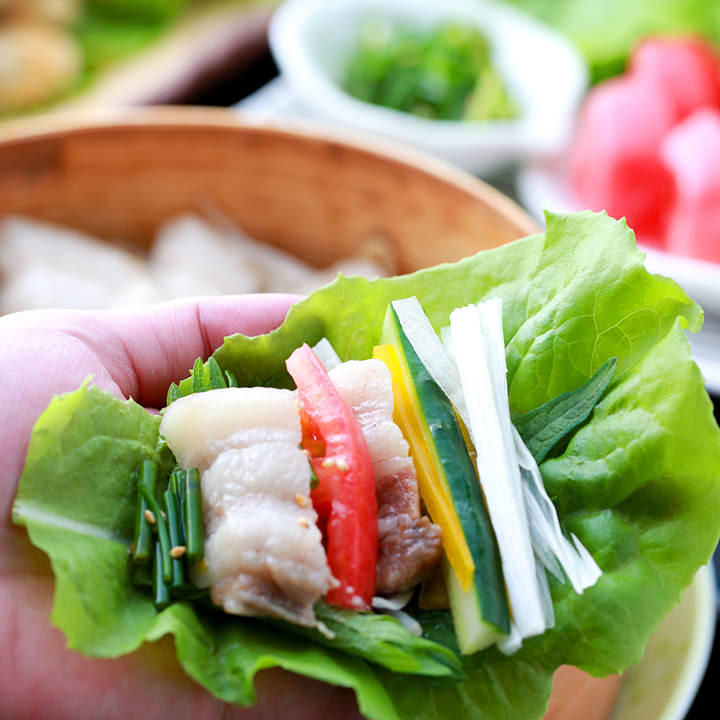 お肉+生野菜+発酵食品 健康&美容に◎♪