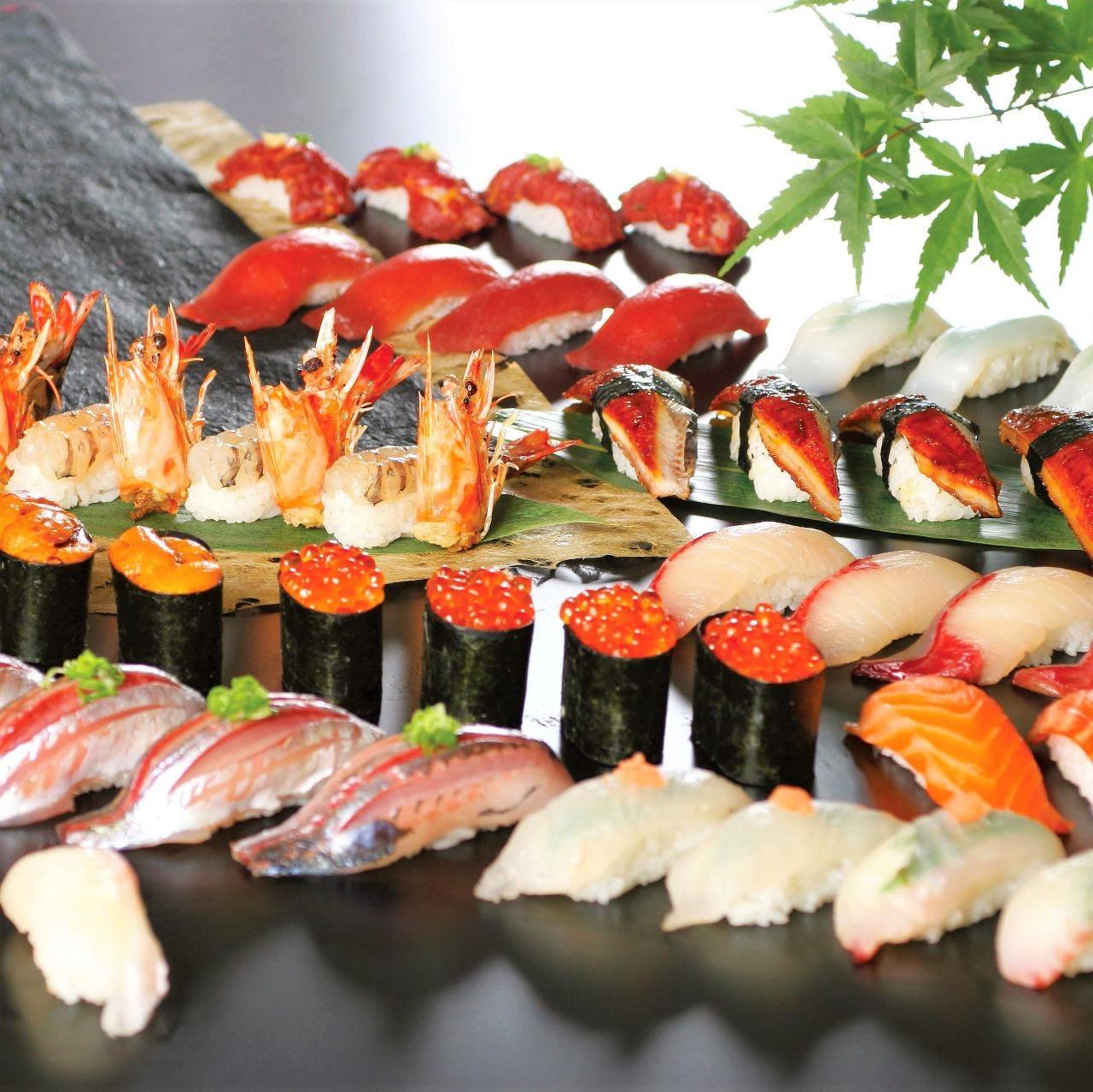 <握り寿司>職人の技が活きた鮮魚握り