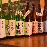 うどんに合う地酒・日本酒もあります