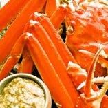 新鮮な蟹も!蟹味噌など、味わい尽くしのメニュー。
