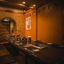個室も充実のレイアウト可能な空間