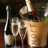 高級シャンパンもご用意可能!ご予約時にお申し付けください