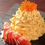 卵とホタテ貝柱のポテトサラダ~イクラのせ~