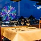 【窓側】テーブル席(2~4名様)誕生日や記念日など特別な日をもっと素敵に...!
