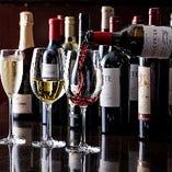 各国のワインを厳選仕入れ。20種類以上取り揃えております!