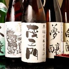 石川の旨い地酒が常時25種類!