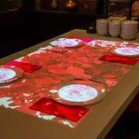 〔中華街初導入のテーブルマッピング〕各テーブル席でマッピング動画を楽しめます!