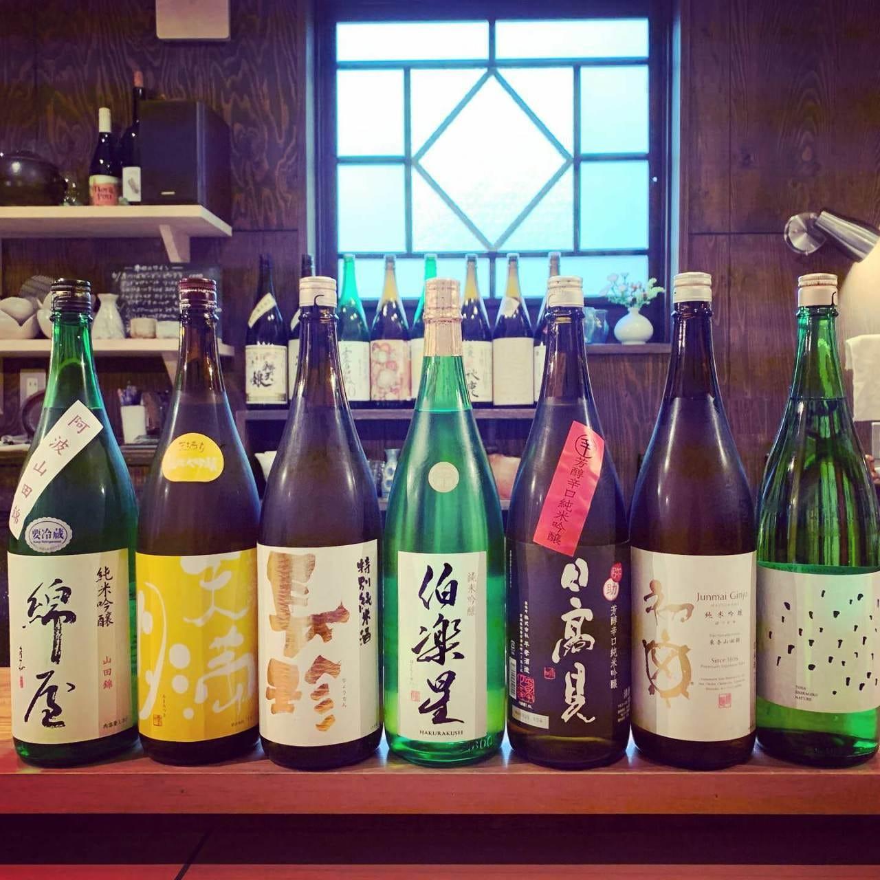 多彩な銘柄の日本酒をご用意
