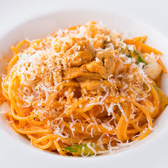 生ウニのトマトクリームのスパゲッティーニ