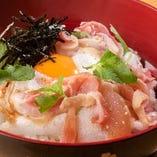 にいがた地鶏と卵の究極親子丼(鶏スープ付き)