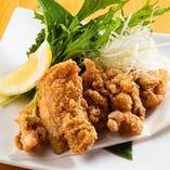 居酒屋さんの定番 越の鶏もも肉唐揚げ(塩or醤油orカレー)