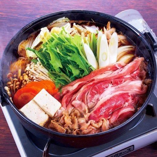 選べるお鍋コースは、+500円で「お肉お替り自由」も可