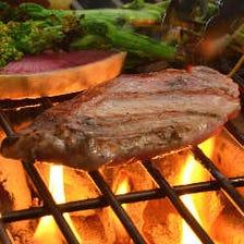 アボカドポークの炭焼ステーキ