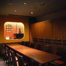 上質な個室3室。皆様理想の宴会可能